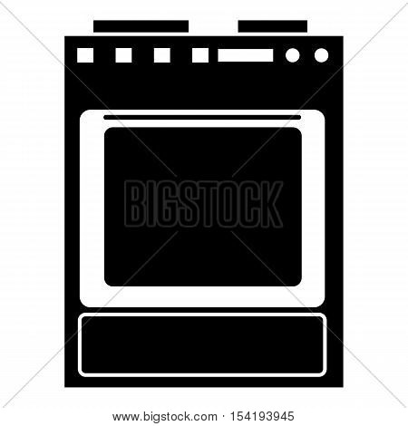 Gas stove icon. Simple illustration of gas stove vector icon for web