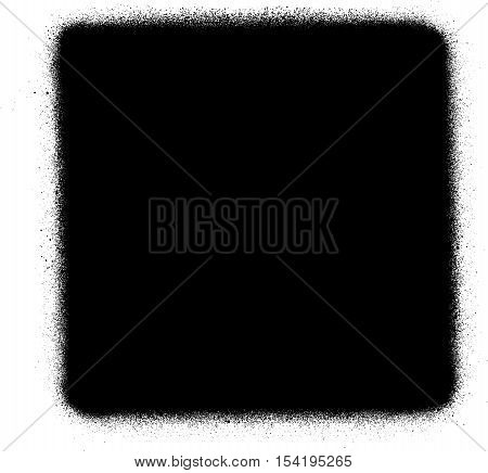stop media graffiti spray icon in black over white