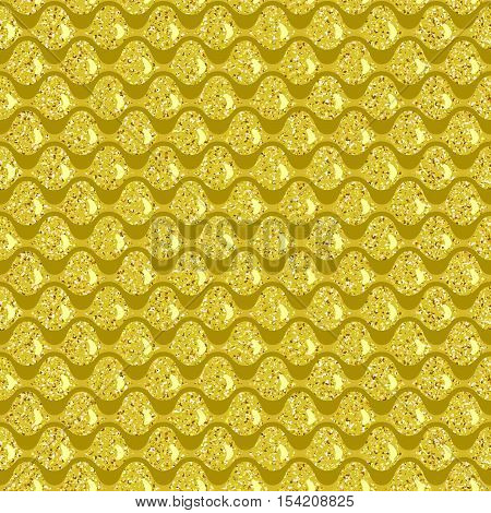 Seamless pattern. Golden squama. Simple Vector illustration