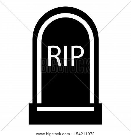 Grave RIP icon. Simple illustration of grave RIP vector icon for web