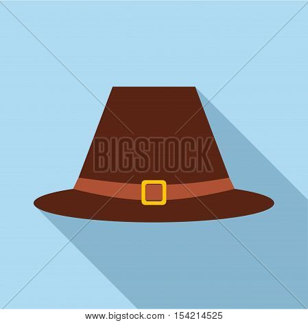 Gentlemans hat icon. Flat illustration of gentlemans hat vector icon for web