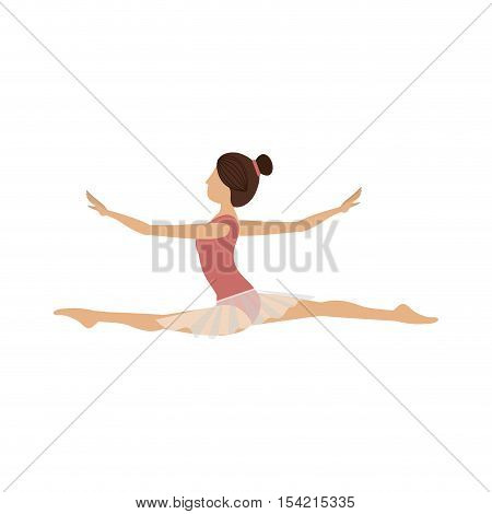 colorful dancer dancer position spear vector illustration