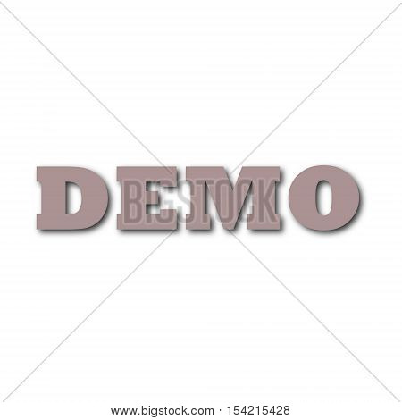Simple vector Demo sign on white background