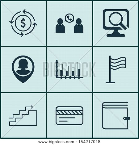 Set Of 9 Universal Editable Icons. Can Be Used For Web, Mobile And App Design. Includes Icons Such A