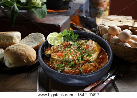 Sea fish stew, moqueca