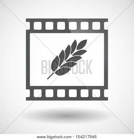 Isolated 35Mm Film Frame Slide Photogram With  A Wheat Plant Icon