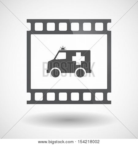 Isolated 35Mm Film Frame Slide Photogram With  An Ambulance Icon