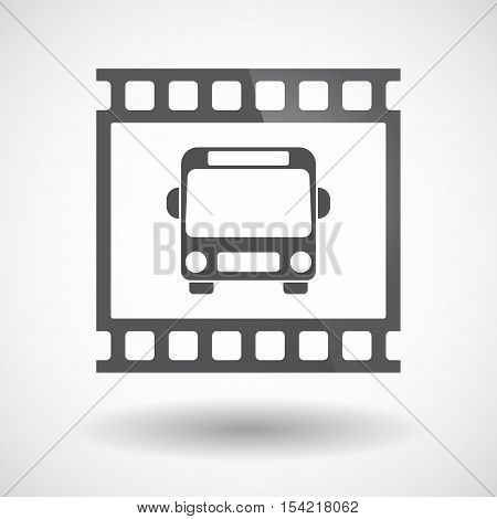 Isolated 35Mm Film Frame Slide Photogram With  A Bus Icon