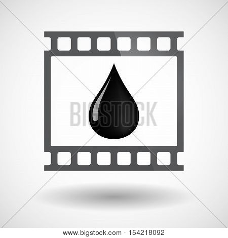 Isolated 35Mm Film Frame Slide Photogram With  An Oil Drop Icon