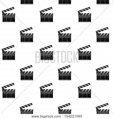 Film seamless pattern. Slapstick and clapper. Movie and film cinema clapper board. Vector illustration