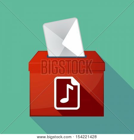 Long Shadow Ballot Box With  A Music Score Icon