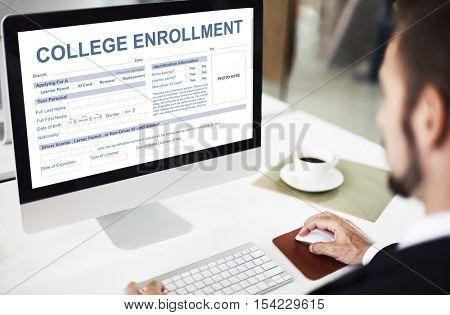 College Enrollment Study Academic Concept