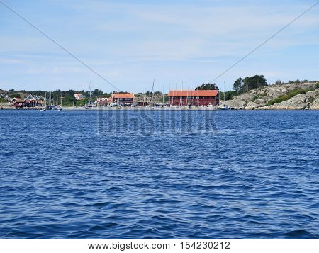 swedish westcoast boat and small house on Orust