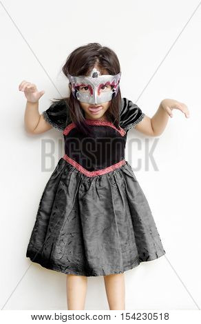 Asian Girl In Ghost In Halloween