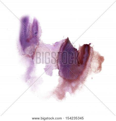 ink splatter watercolour dye liquid watercolor macro spot purple blotch texture isolated on white