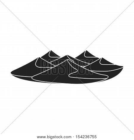Dunes icon in black style isolated on white background. Arab Emirates symbol stock vector illustration.