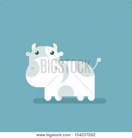cartoon flat cow