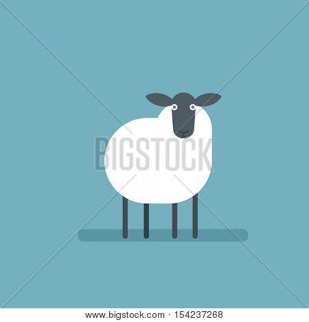 cartoon flat sheep