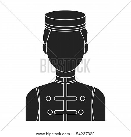 Bellboy icon in black style isolated on white background. Hotel symbol vector illustration.