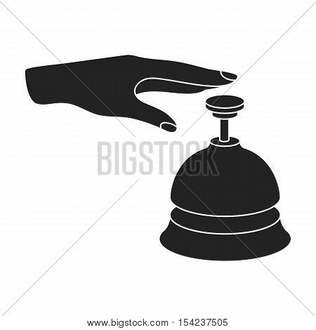 Reception bell icon in black style isolated on white background. Hotel symbol vector illustration.