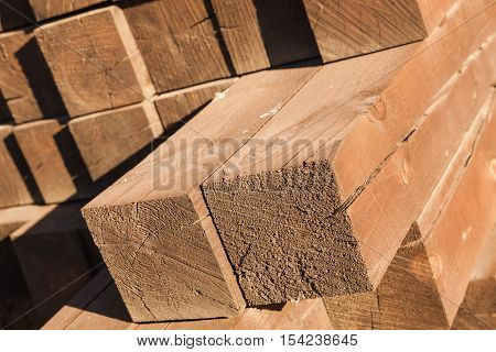 Stacked Wooden Beams, Construction