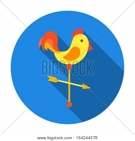 Weather vane icon in flat style isolated on white background. Weather symbol vector illustration.