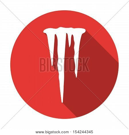 Icicles icon in flat style isolated on white background. Weather symbol vector illustration.