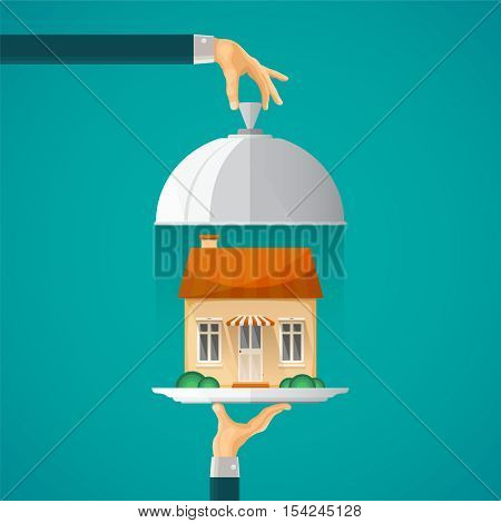Mortgage Offer Vector Concept In Flat Style