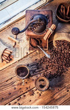 Smell Of Freshly Brewed Coffee With Cinnamon