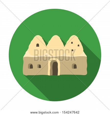 Beehive house icon in flat style isolated on white background. Turkey symbol vector illustration.