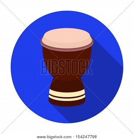 Goblet drum icon in flat style isolated on white background. Turkey symbol vector illustration.