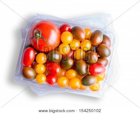 Top Down View On Various Tomatoes
