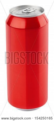 Red Aluminum Beer Can