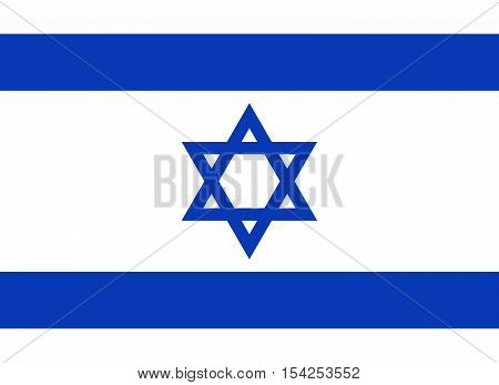 Official vector flag of Israel . State of Israel .