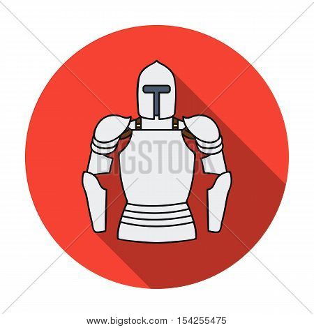 Plate armor icon in flat style isolated on white background. Museum symbol vector illustration.