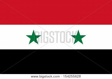 Official vector flag of Syria . Syrian Arab Republic .
