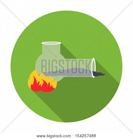 Hashish pipe icon in flat style isolated on white background. Drugs symbol vector illustration.