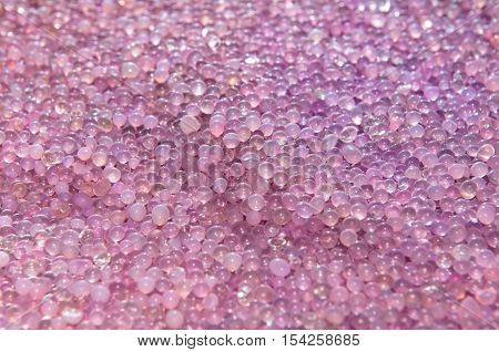 close-up to silica gel after use, background