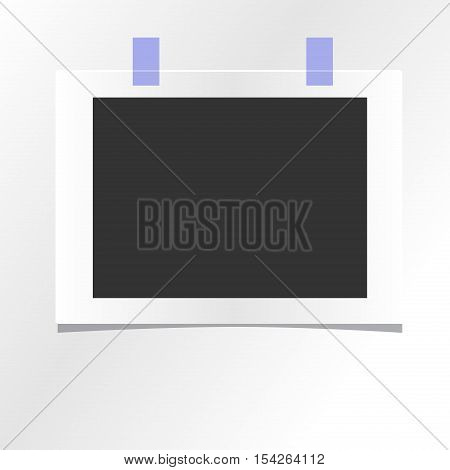 Blank photo frame isolated on white. template design. photo mockup empty blank template design frame. interior poster business photo mockup paper image picture.