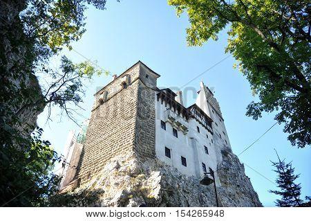 Bran Romania - September 30th 2016: Image of the Bran Castle from Transylvania in Bran Romania.