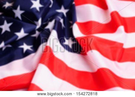 Defocussed American Flag,