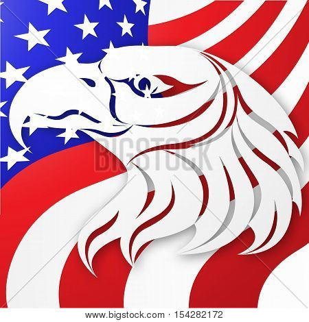 United States vector background. American flag. American Eagle. Stock vector illustration for your design