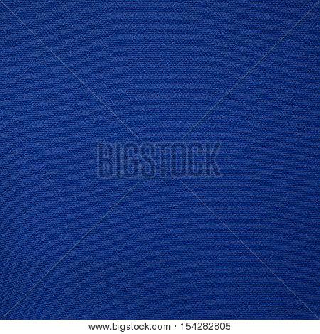 Blue fabric texture closeup. Fashion fabric texture background
