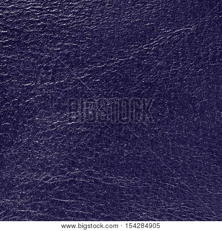 Blue leatherette texture background square close up