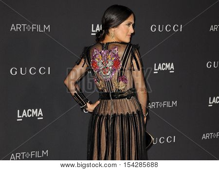 Salma Hayek at the 2016 LACMA Art+Film Gala held at the LACMA in Los Angeles, USA on October 29, 2016.