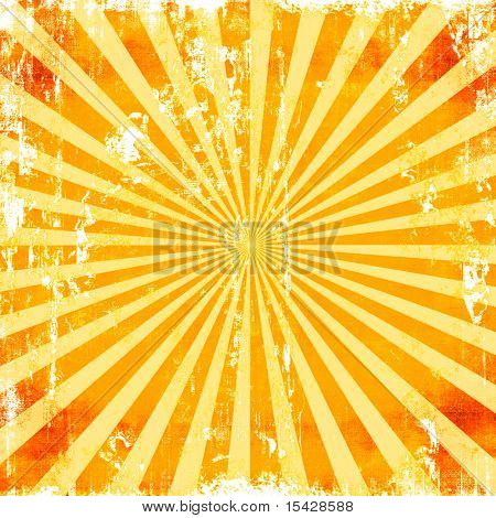 Sunburst Grunge Rays Background Texture
