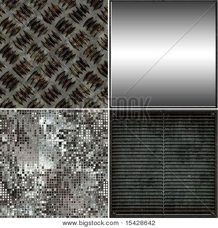 Seamless Metal Textures Set