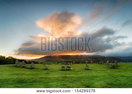 Dramatic Sunrise Over Castlerigg Stone Circle