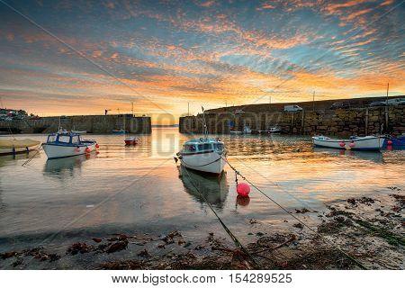 Fishing Boats At Sunrise