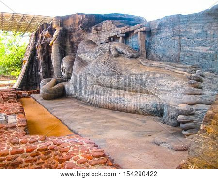 Buddha in Polonnaruwa temple - medieval capital of Ceylon UNESCO